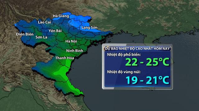 Không khí lạnh về, miền Bắc đầu tuần mưa lạnh - Ảnh 3.