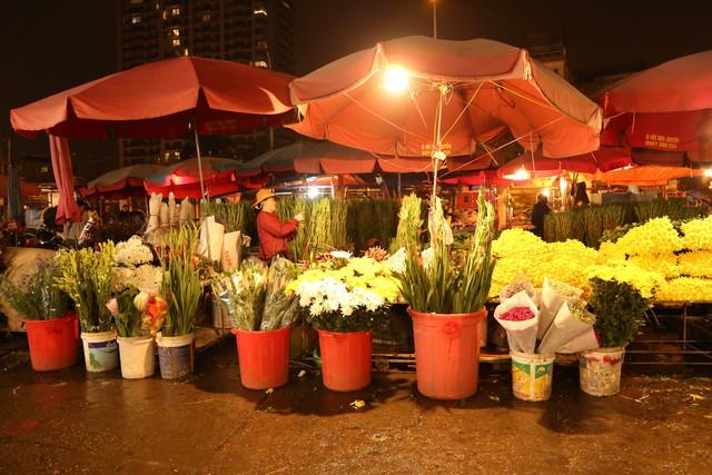 Đêm không ngủ ở chợ hoa nổi tiếng Hà Nội - Ảnh 1.
