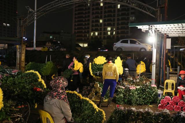 Đêm không ngủ ở chợ hoa nổi tiếng Hà Nội - Ảnh 6.