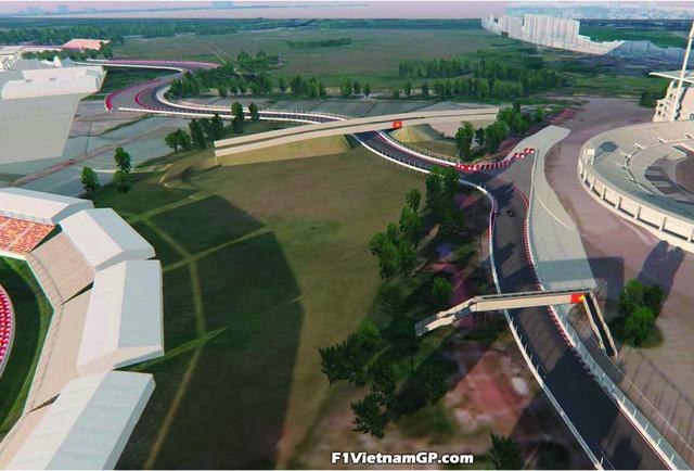 Phối cảnh 3D của đường đua công thức 1 Việt Nam Grand Prix - Ảnh 6.