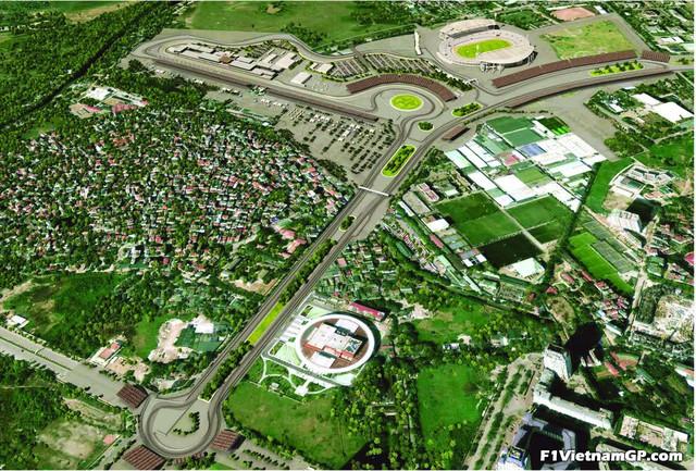 Phối cảnh 3D của đường đua công thức 1 Việt Nam Grand Prix - Ảnh 1.