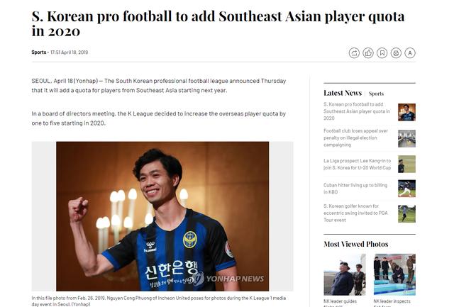 Nhờ Công Phượng, Hàn Quốc thêm suất ngoại binh Đông Nam Á tại K.League - Ảnh 1.