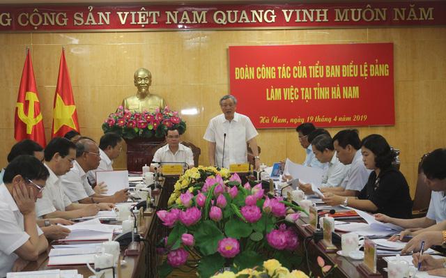 Tiểu ban Điều lệ Đảng Đại hội XIII làm việc tại tỉnh Nghệ An, Hà Nam - ảnh 1