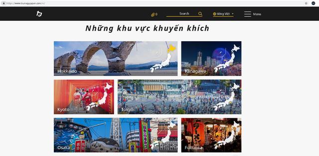 Trang thông tin du lịch của Nhật Bản có phiên bản tiếng Việt - Ảnh 1.