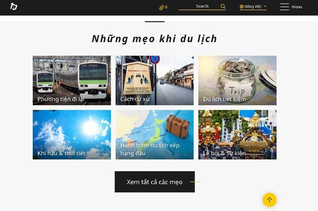 Trang thông tin du lịch của Nhật Bản có phiên bản tiếng Việt - Ảnh 2.