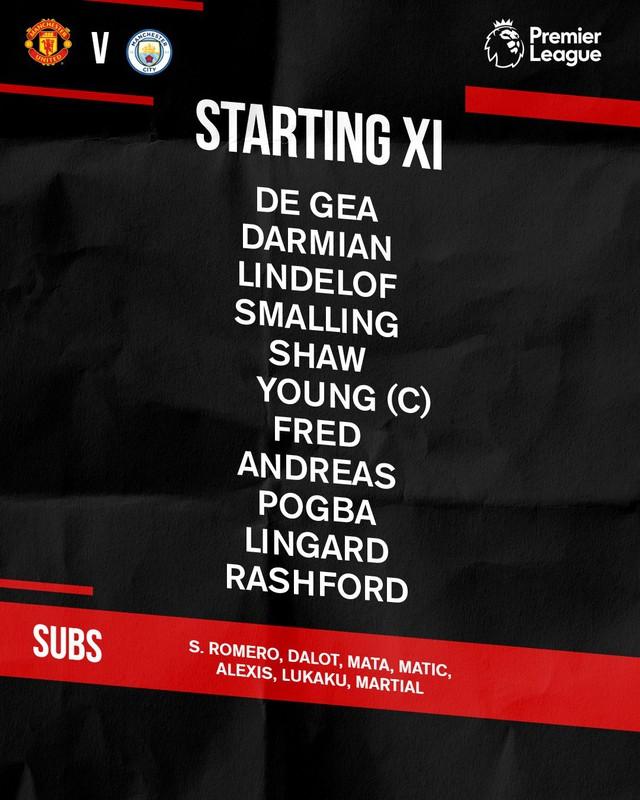 Đội hình chính thức trận derby thành Manchester - Ảnh 1.