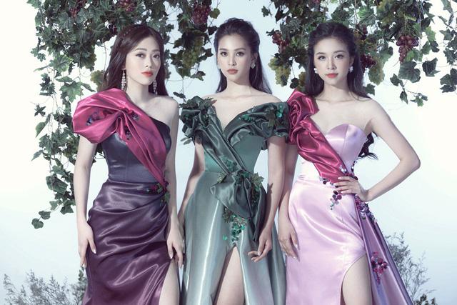 Top 3 Hoa hậu Việt Nam 2018 hóa thành nữ thần nho trong bộ ảnh mới - Ảnh 8.