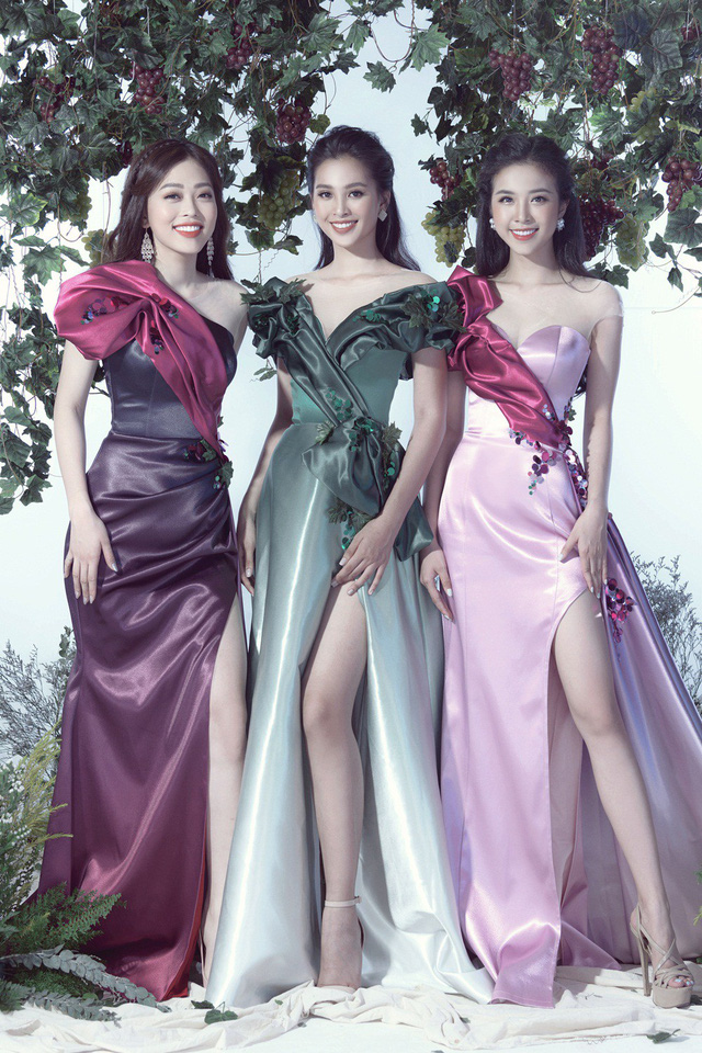 Top 3 Hoa hậu Việt Nam 2018 hóa thành nữ thần nho trong bộ ảnh mới - Ảnh 2.