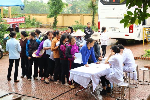 Khám tầm soát bệnh hô hấp và cấp phát thuốc miễn phí tại Vĩnh Phúc - Ảnh 1.