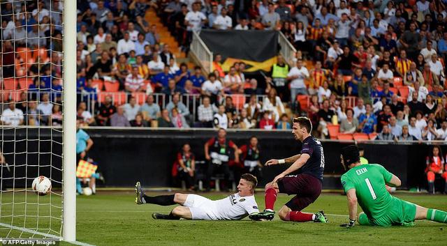 ẢNH: Arsenal thắng thuyết phục Valencia để giành quyền vào chung kết Europa League - Ảnh 3.