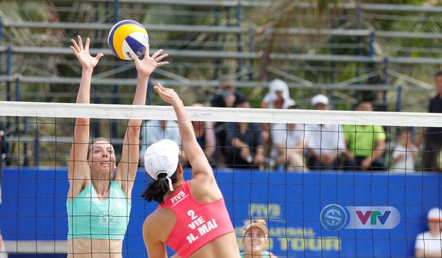 Ảnh: Những khoảnh khắc ấn tượng tại giải bóng chuyền bãi biển nữ thế giới Tuần Châu - Hạ Long 2019 ngày 10/5 - Ảnh 1.