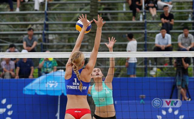 Ảnh: Những khoảnh khắc ấn tượng tại giải bóng chuyền bãi biển nữ thế giới Tuần Châu - Hạ Long 2019 ngày 10/5 - Ảnh 11.