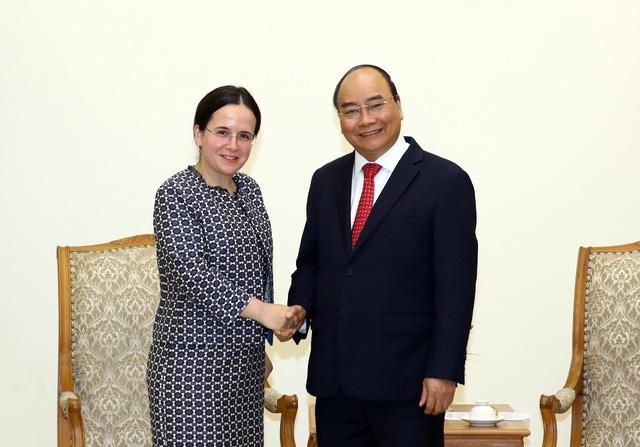 Thủ tướng Nguyễn Xuân Phúc tiếp Quốc vụ khanh Bộ Ngoại giao Romania - ảnh 1