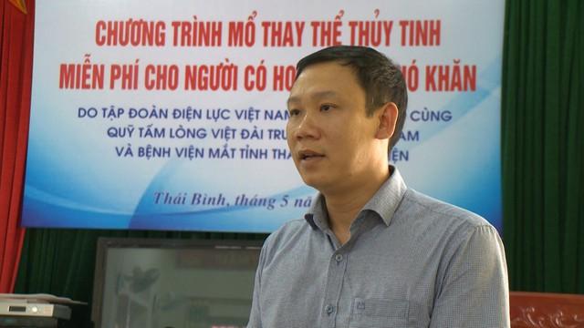 Hỗ trợ 560 triệu đồng mổ thay thể thủy tinh cho 200 người cao tuổi tại tỉnh Thái Bình - Ảnh 2.