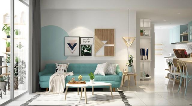 Xua tan nắng nóng với nội thất màu xanh ngọc - Ảnh 1.