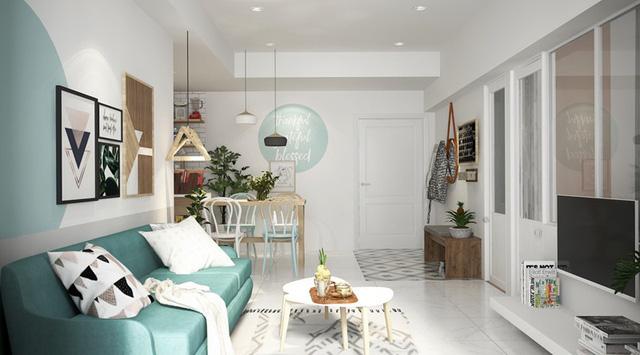 Xua tan nắng nóng với nội thất màu xanh ngọc - Ảnh 2.