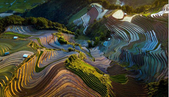 Ruộng bậc thang Mù Cang Chải mùa nước đổ qua góc máy của nghệ sỹ trẻ - Ảnh 10.