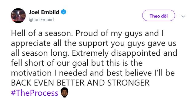 Embiid lần đầu lên tiếng sau thất bại ở bán kết - Ảnh 1.