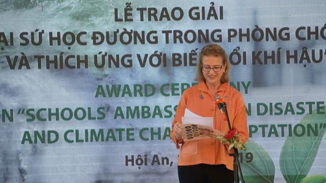 Trao giải cuộc thi Đại sứ học đường trong Phòng chống thiên tai và thích ứng biến đổi khí hậu - Ảnh 3.