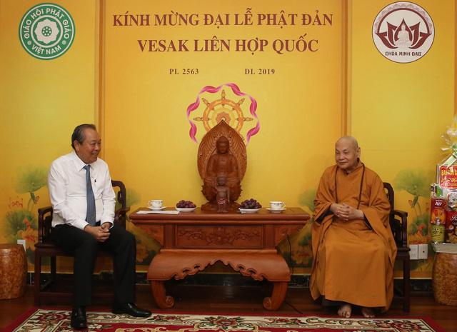PTTg Trương Hòa Bình chúc mừng đại lễ Phật đản tại TP.HCM - Ảnh 2.