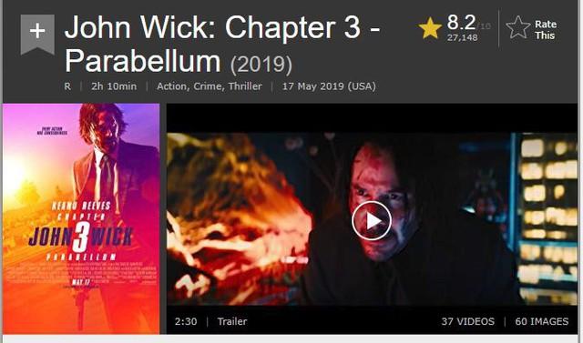 """""""John Wick 3"""" thu về 57 triệu USD từ các phòng vé Bắc Mỹ trong tuần mở màn - Ảnh 3."""