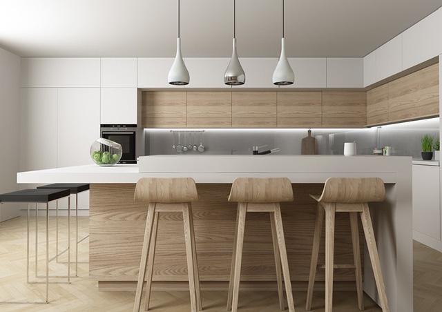 Mẫu căn bếp hiện đại cho gia đình trẻ - Ảnh 4.