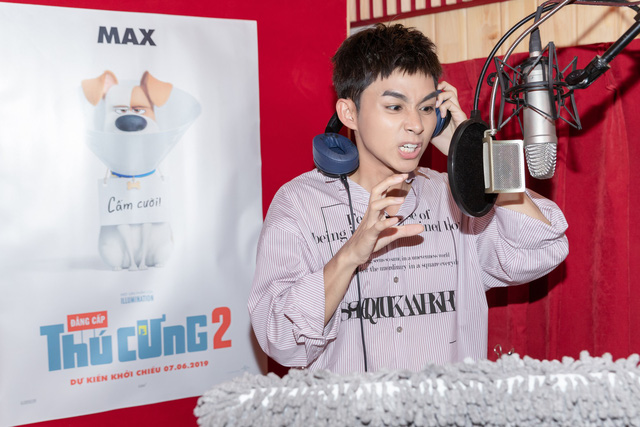 Jun Phạm kết đôi cùng Khả Như và Puka lồng tiếng phim hoạt hình Biệt đội đẳng cấp thú cưng 2 - Ảnh 3.