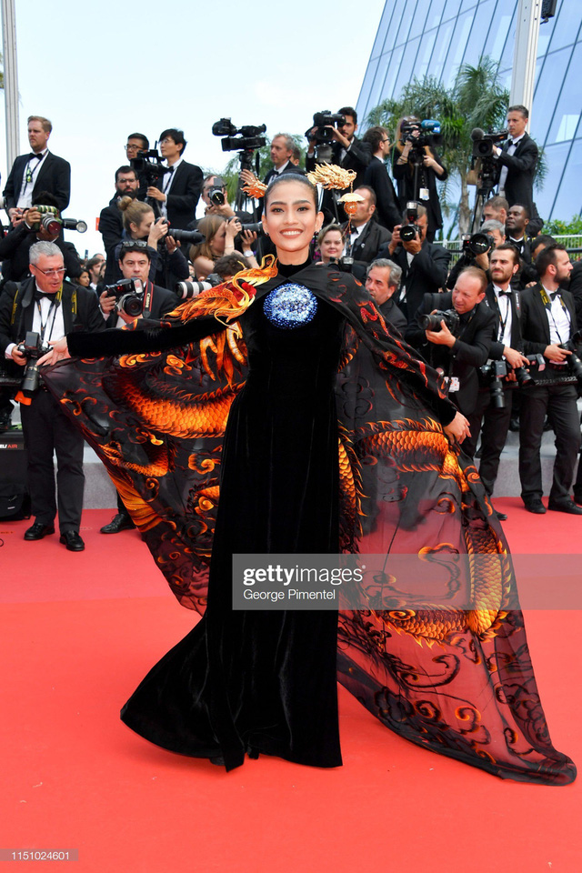 Trương Thị May diện áo dài lộng lẫy trên thảm đỏ Cannes 2019 - Ảnh 7.