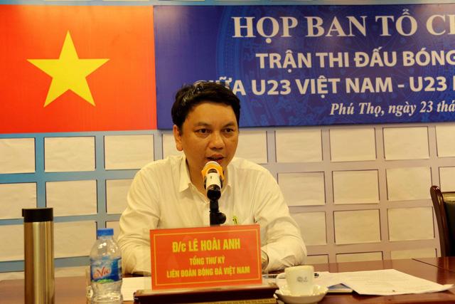 Phú Thọ đẩy nhanh công tác chuẩn bị cho trận giao hữu U23 Việt Nam - U23 Myanmar - Ảnh 2.