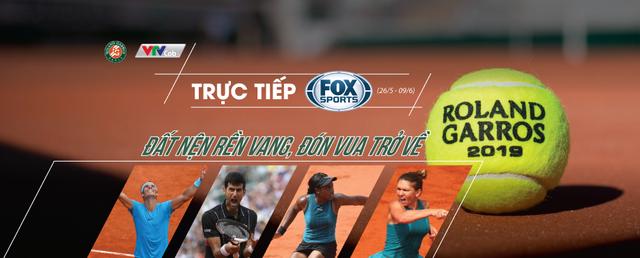 Khán giả xem giải quần vợt Roland Garros 2019 ở đâu? - Ảnh 2.