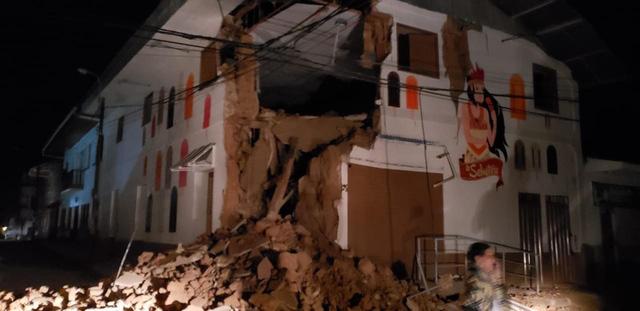 Động đất mạnh 8 độ richter làm rung chuyển Peru - Ảnh 1.