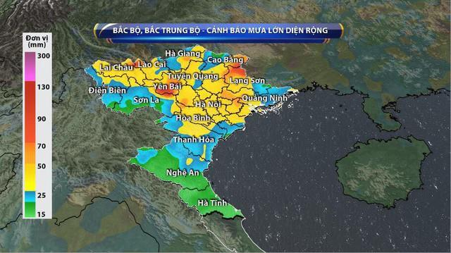 Bắc Bộ, Bắc Trung Bộ tiếp diễn mưa to, cảnh báo một đợt lũ - Ảnh 1.