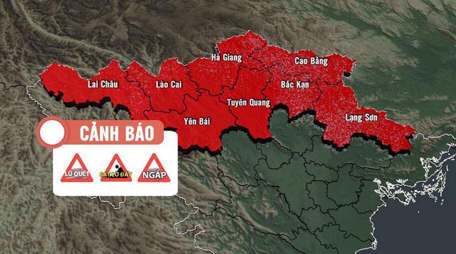 Bắc Bộ, Bắc Trung Bộ tiếp diễn mưa to, cảnh báo một đợt lũ - Ảnh 2.