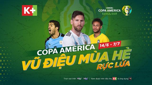 K+ chính thức sở hữu bản quyền của Copa America 2019 - Ảnh 1.
