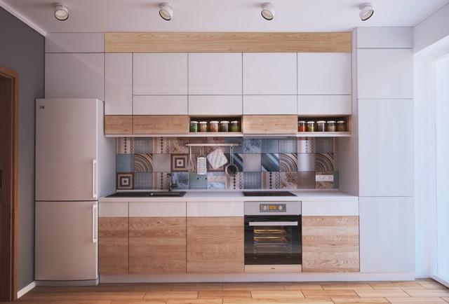Những tủ bếp được thiết kế độc đáo như tủ để quần áo - Ảnh 3.