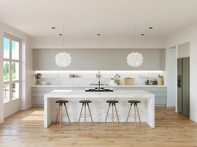 Những tủ bếp được thiết kế độc đáo như tủ để quần áo - Ảnh 4.