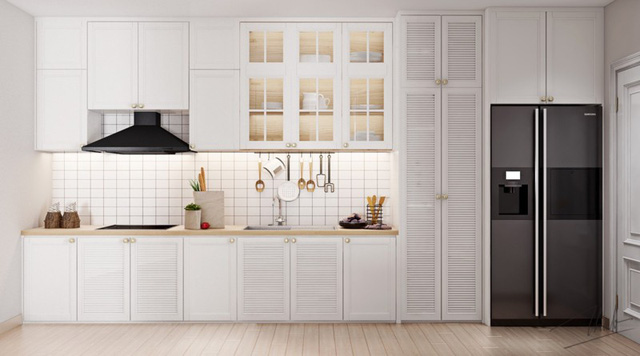 Những tủ bếp được thiết kế độc đáo như tủ để quần áo - Ảnh 8.