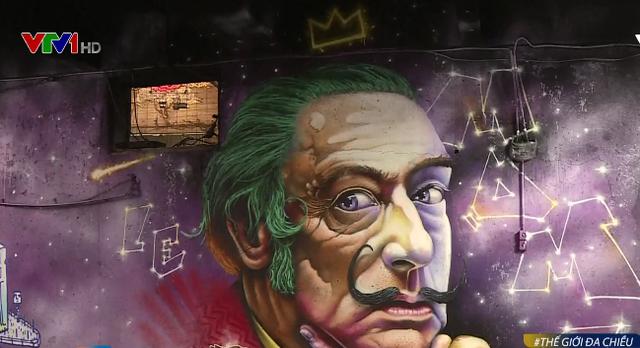 Nghệ sĩ vẽ tranh đường phố trên thế giới tham gia triển lãm Sơn mới - Ảnh 3.