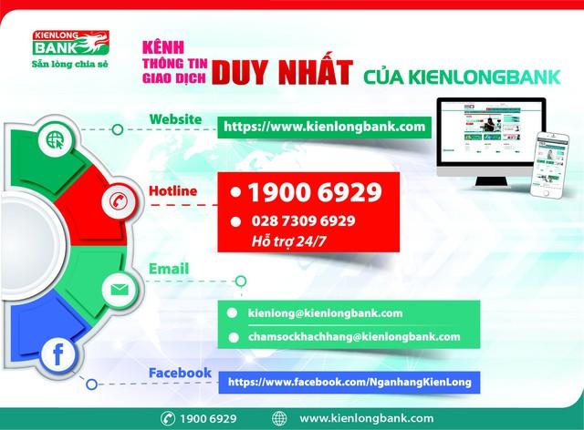 Kienlongbank cảnh báo website và hotline giả mạo tổng đài chăm sóc khách hàng - Ảnh 1.