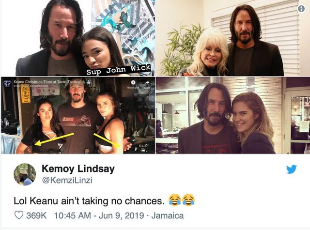 Fan 'phát cuồng' vì bàn tay lịch thiệp của Keanu Reeves - Ảnh 1.