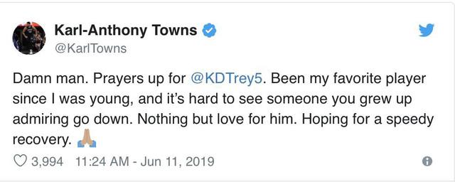 Các ngôi sao NBA phản ứng sau chấn thương của Kevin Durant - Ảnh 5.