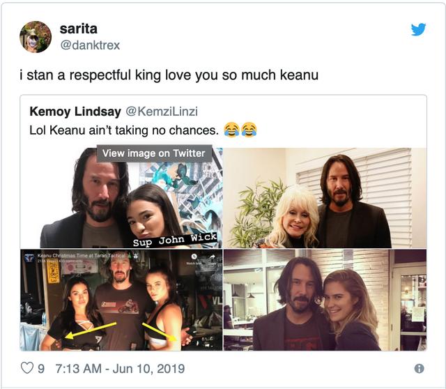 Fan 'phát cuồng' vì bàn tay lịch thiệp của Keanu Reeves - Ảnh 6.
