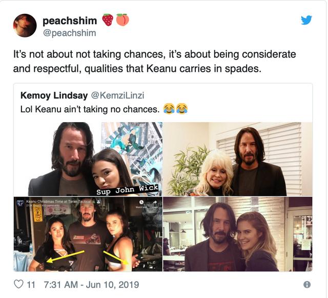 Fan 'phát cuồng' vì bàn tay lịch thiệp của Keanu Reeves - Ảnh 7.