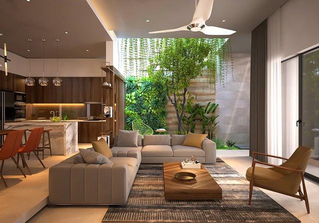 Nhà ở như công viên nhờ có vườn cây bên trong - Ảnh 1.