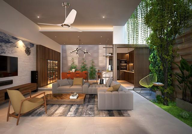 Nhà ở như công viên nhờ có vườn cây bên trong - Ảnh 2.