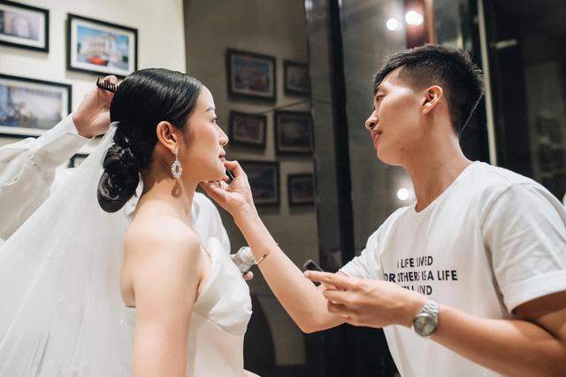 Ngắm cô dâu Phí Linh đẹp dịu dàng trong ngày trọng đại - Ảnh 5.