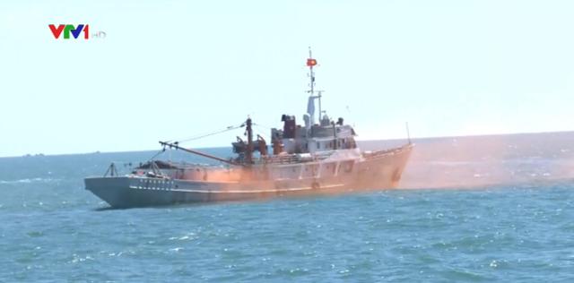 Diễn tập thực thi pháp luật trên biển và hỗ trợ ngư dân - Ảnh 1.