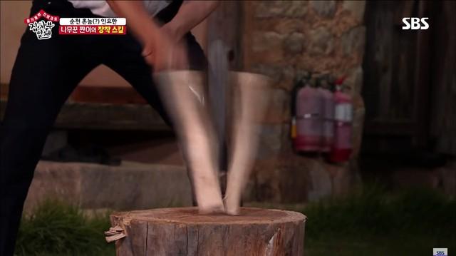 Lee Sung Gi khoe tài bổ củi trong chương trình Master in the House - Ảnh 4.