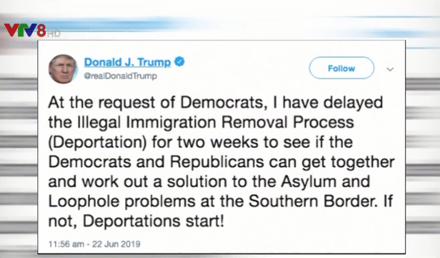 Tổng thống Mỹ Donald Trump bất ngờ hoãn kế hoạch trục xuất người nhập cư - Ảnh 1.