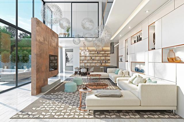 Những phòng khách sang trọng với cách thiết kế, trang trí độc đáo - Ảnh 6.